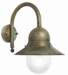 Franssen Verlichting Maritiem wandlamp verkoperd messing - zwart/groen