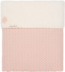 Roze Koeka - Babydekentje - Ledikantdeken Teddy/Wafel Oslo - 100x150 - Shadow Pink/Light Shadow Pink