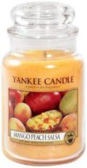 Gele Yankee Candle Large Jar Geurkaars - Mango Peach Salsa