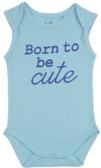Fun2Wear Unisex Romper Born Cute Petit Four - Groen - Maat 62