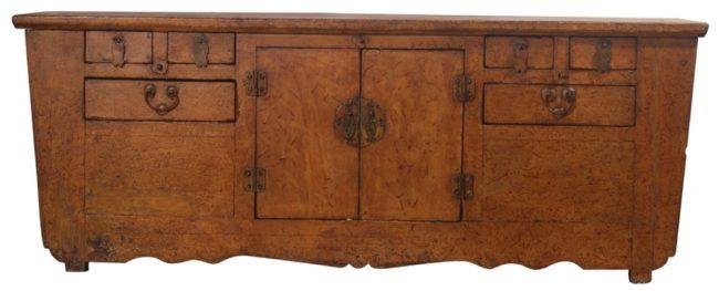 Afbeelding van Fine Asianliving Antieke Chinese Laag Dressoir Bruin Patroon - Zhejiang, China Chinese Meubels Oosterse Kast