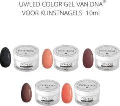 Koraalrode DNA Color gel set - UV/Led kleur gel pakket - gel nagellak - gellak