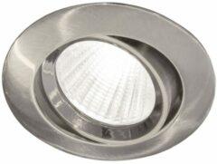 Blinq Piato inbouw LED spot 70 mm rond geborsteld nikkel