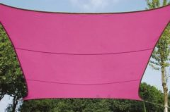 Roze Velleman SCHADUWDOEK - ZONNEZEIL - VIERKANT 5 x 5 m, kleur: fuchsia