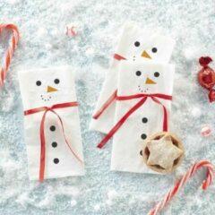 Witte Ginger ray Novelty Christmas – Servetten Sneeuwman met sjaal (16 stuks)