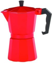 Alu-Espressokocher ROSSO rot 9 T. Krüger rot