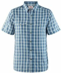 Blauwe Fjällräven - Abisko Cool Shirt SS - Overhemd maat XXL grijs/blauw