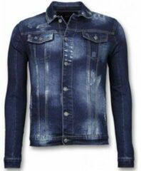 True Rise Spijkerjasje - Stone Wash Spijkerjasje Heren Denim Jacket - Donker Blauw SpijkerJas Heren Spijkerjas Maat XL