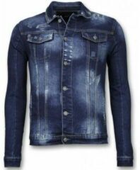 Blauwe Spijkerjassen True Rise Spijkerjasje - Stone Wash Spijkerjasje Heren Denim Jacket