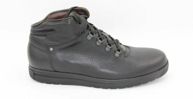 Afbeelding van Gijs- Go H sportieve enkelhoge zwart lederen schoen- maat 45