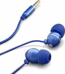 Blauwe Azuri stereo portable handsfree headset - blue - 3.5 mm - universal