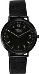 Lucardi - Urban Story - Urban Story horloge met zwarte mesh band
