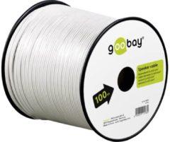 Witte Luidspreker kabel - Op rol - 2.5 mm² - 50 meter - Goobay