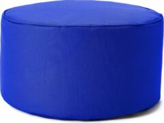 Lumaland Indoor Outdoor Poef Beanbag Stool Hocker 45cm x 25cm waterafstotend - Koningsblauw