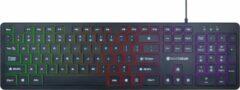 Zwarte Silvergear Gaming Keyboard - Gaming Toetsenbord - Qwerty - RGB Verlichting