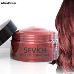 AtrustTeam – Kleur Haar Wax- Haarwax-HaircolorWax – Direct natuurlijke haarkleur, Natuurlijke ingrediënten Wasbaar-Feest wax –Tijdelijke Haarkleur-Carnaval- Moderne look- Haarcrème-Natuurlijke product -Waterbasis –Kleur: Rood donker-Nieuw 2020