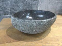 Grijze Bagno Bathroom Waskom Riverstone Small 25-30cm