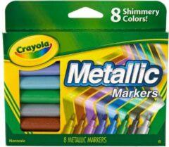 Crayola - Metallic markers voor kinderen - Shimmering Colors - 8 stuks