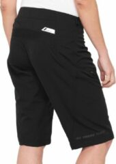 Zwarte 100% Airmatic Korte Broek Dames, black Maat XL