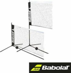 Witte Babolat opzet badmintonnet tennisnet - staal - zwart - 5.8m