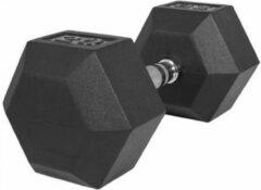 Gorilla Sports Dumbell 20 kg Hexagon Rubber Zwart