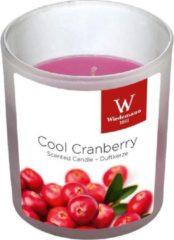 Roze Trend Candles 1x Geurkaarsen cranberry in glazen houder 25 branduren - Geurkaarsen cranberrygeur/veenbessengeur - Woondecoraties