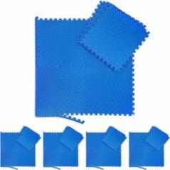 Blauwe Relaxdays 40x fitness mat - beschermmat - sportmat - puzzelmat - vloermat – bescherming