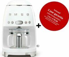 Smeg - DCF02 WHEU MkIII - Filter koffiemachine - wit - met drie jaar garantie