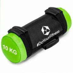 Groene #DoYourFitness® - Core Bag / Gewicht Bag »Carolous« van 5 kg tot 30 kg - 2 handgrepen en 1 riem - Kracht / fitness bag voor kracht-, uithoudings-, gevechts- en coördinatietraining - 10kg