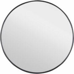 Douche Concurrent Badkamerspiegel Differnz Rond 65x65cm Aluminium Omlijsting Mat Zwart