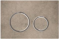 Geberit Sigma21 bedieningplaat met dualflush frontbediening voor toilet/urinoir 24.6x16.4cm chroom / betonlook 115.884.JV.1