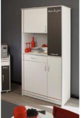 Küchen-/Mehrzweckschrank 'Bistrot 1' Weiß-Alu Parisot Weiß / Alu