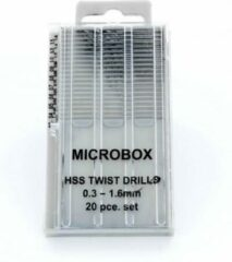 Microbox drill set (borenset) 0.3-1.6mm - 20x - Vallejo Tools - T01001