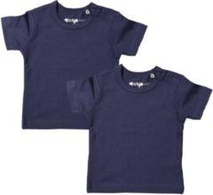 Dirkje Meisjes Shirts Korte Mouwen (2stuks) Blauw - Maat 50