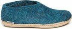 Glerups schoen laag model, leren zool - kleur Petrol - maat 36