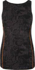 Huidskleurige Top met boothals en met beha, snakeskin XL Loungewear shirt YOGISTAR