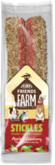 Supreme Tiny Friend Farm Stickle 100 g - Knaagdiersnack - Appel&Cranberry