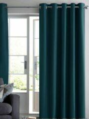 House of Curtains Ruben Kant en klaar Gordijn - Verduisterend - Met Ringen - 300x250 cm - Oud Hollands Groen - 1 Stuk