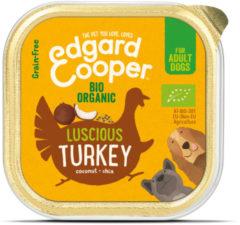 Edgard-Cooper Edgard&Cooper Kuipje Bio Turkey Adult - Hondenvoer - Kalkoen Kokos Chiazaad 100 g Biologisch