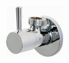 Clou InBe design hoekstopkraan type 1 rond chroom H5.6xD6.6cm IB/06.45001