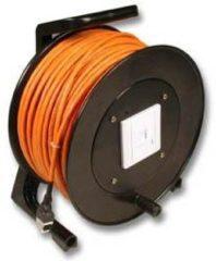 EFB Elektronik RJ45 Netwerk Kabelhaspel CAT 6 S/FTP [1x RJ45-bus - 1x RJ45-bus] 50 m Oranje Vlambestendig