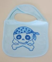 "Softtouch ""Skull and crossbones"" slabbetje blauw"