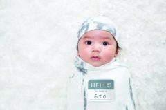 Witte Lulujo Hello World Swaddle & Hat - Marble