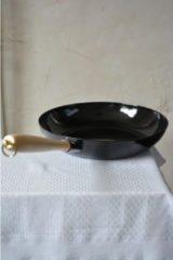 Riess Koekenpan zwart 26 cm - houten handvat