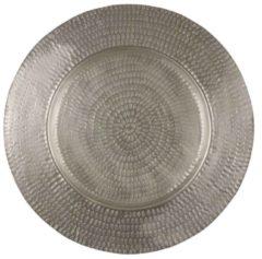 Edelman Montfoort Mica Decorations bord rond zilver mat dia in cm: 57 ZILVER