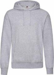 Fruit of the Loom capuchon sweater lichtgrijs voor volwassenen - Classic Hooded Sweat - Hoodie - Heren kleding L (EU 52)