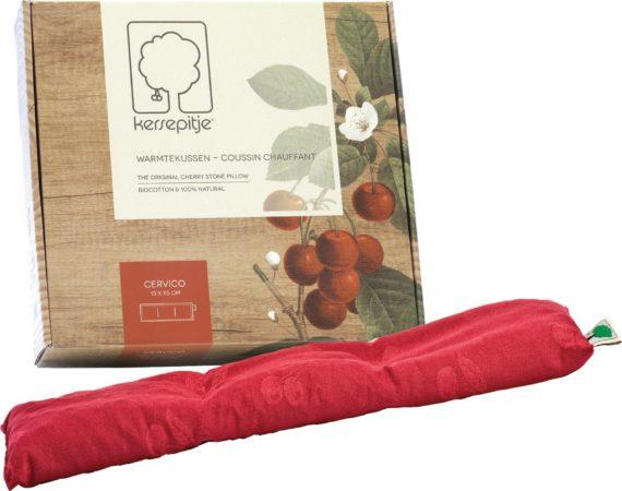 Afbeelding van Rode Inatura - Kersepitje Cervico Kersepitje cervico 13 x 55 cm - kersenpitkussen - warmte kussen - opwarmbaar - koud warm kompres - inatura