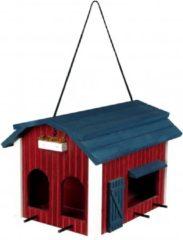 Rode Trixie Houtenvoederhuis Boerderij - Rood - 24 x 22 x 32 cm