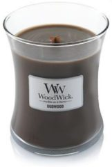 Woodwick Hourglass Medium Geurkaars - Oudwood