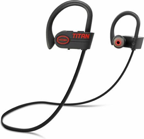 Afbeelding van EarHackz® Titan - Draadloze In-ear Bluetooth Sport Oordopjes - Wireless Headset Koptelefoon - Zwart/rood